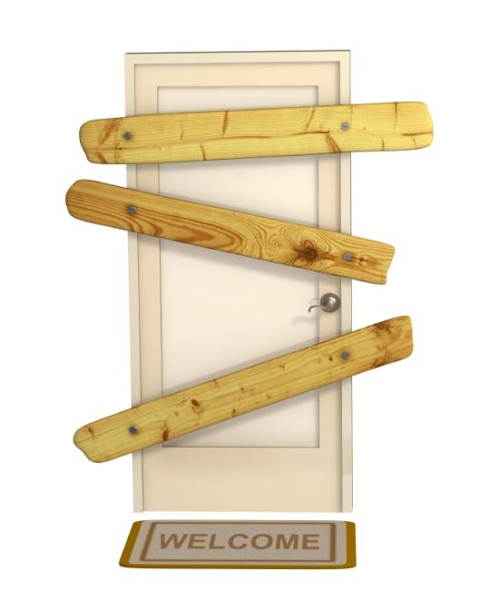 3d closed door